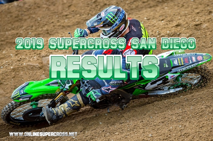 450 and 250 San Diego Supercross Results 2019