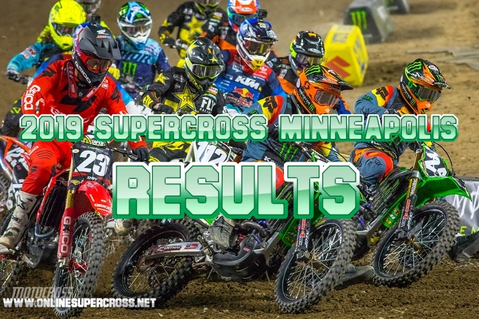 450 and 250 Minneapolis Supercross Results 2019