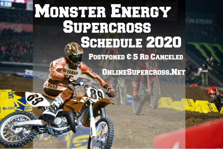Supercross 2020 season postponed and five rounds canceled