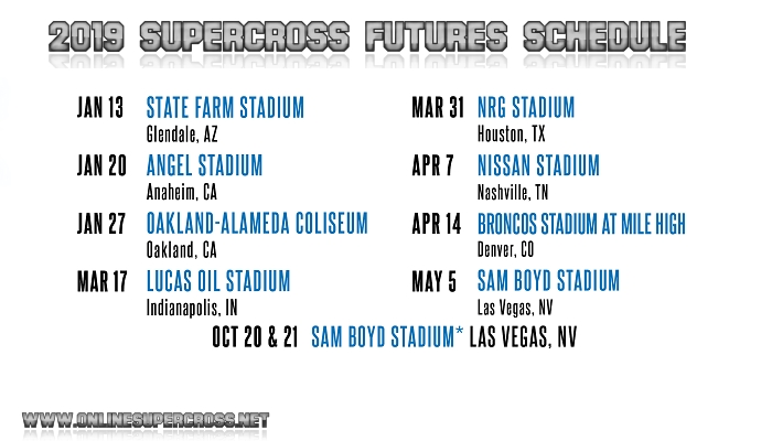 Supercross Futures Schedule 2019