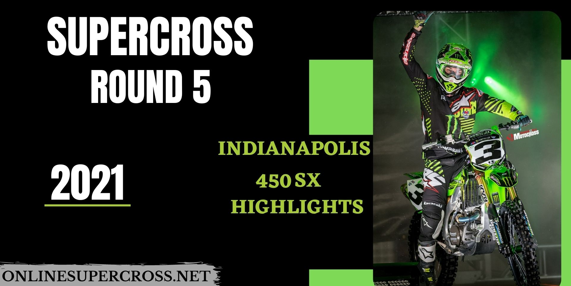 Indianapolis Round 5 Supercross 450SX Highlights 2021