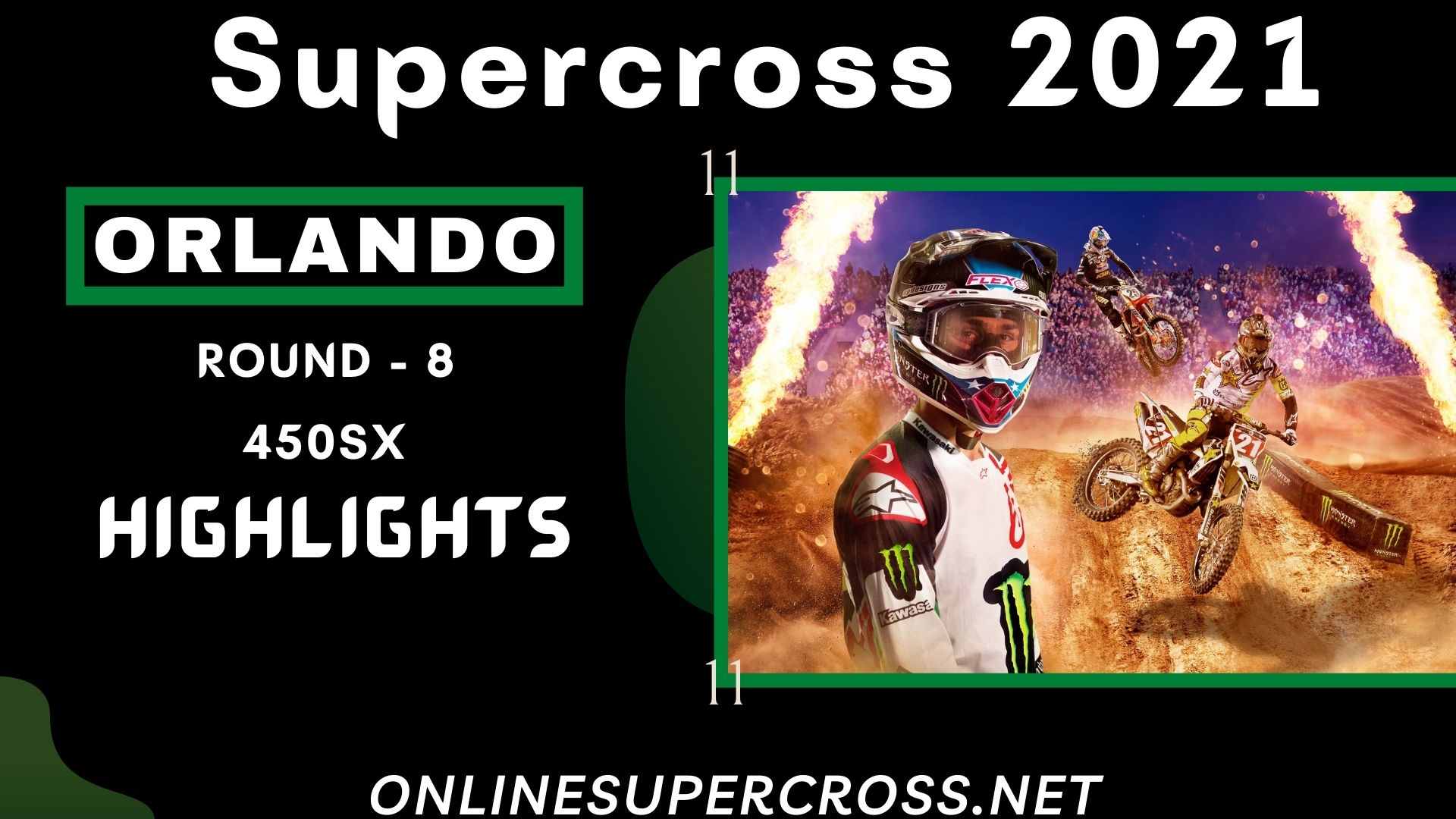 Orlando Round 8 Supercross 450SX Highlights 2021