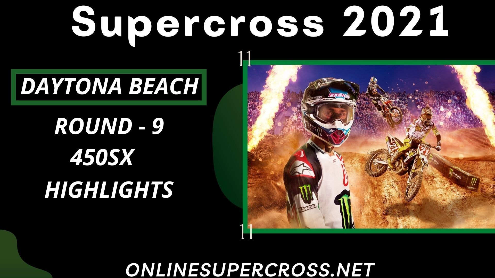 Daytona Beach Round 9 Supercross 450SX Highlights 2021