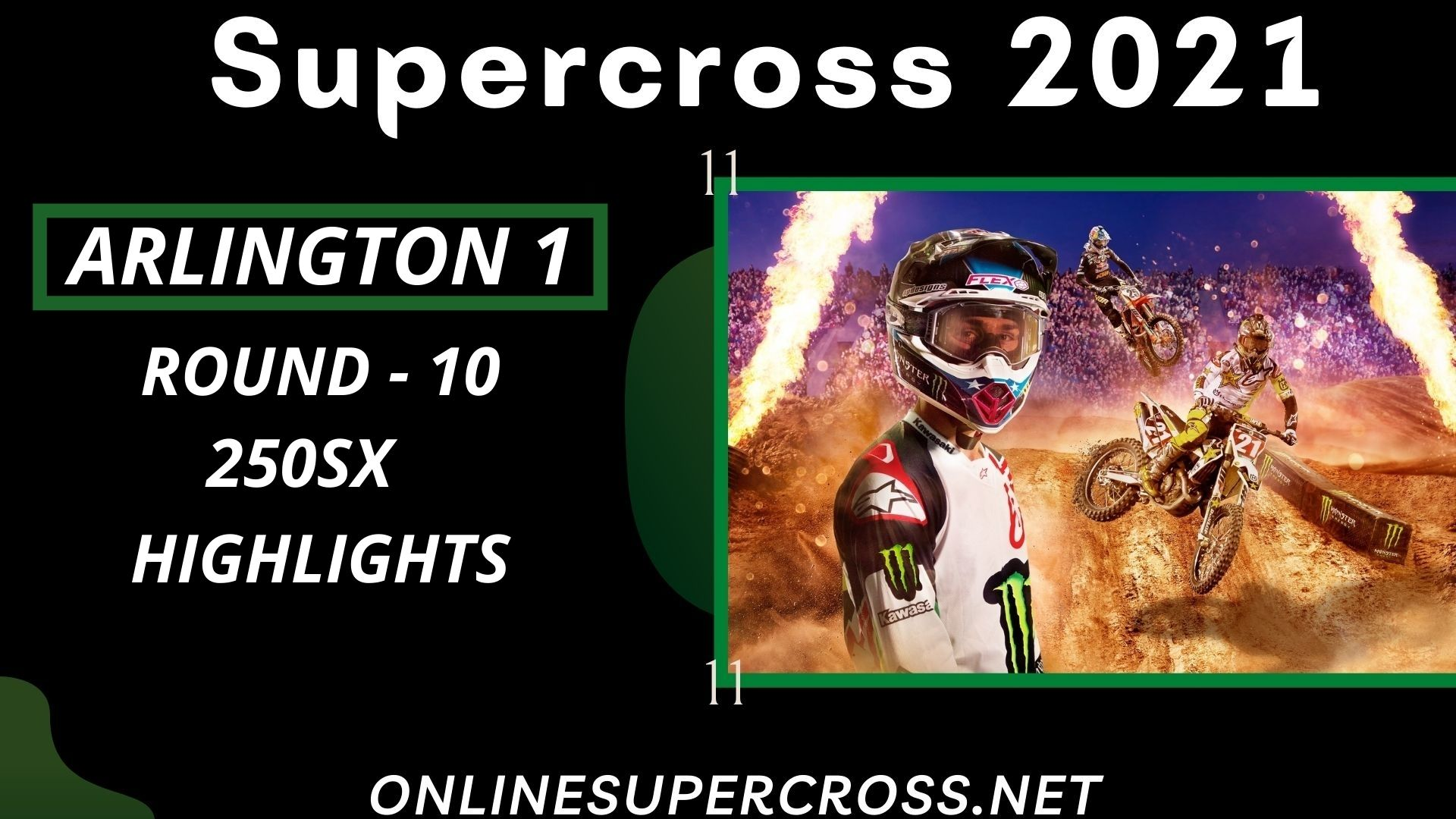 Arlington 1 Round 10 Supercross 250SX Highlights 2021