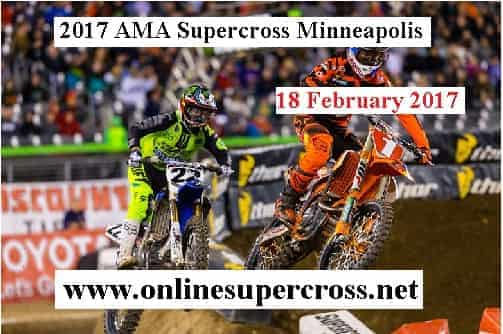 2017 AMA Supercross Minneapolis live