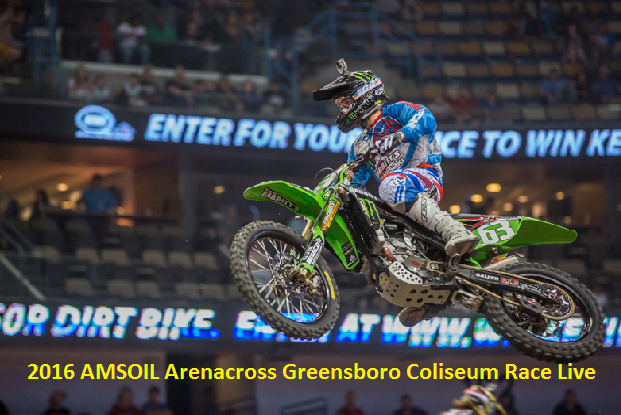 Watch 2016 Arenacross Greensboro Coliseum Race Live