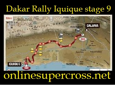 Dakar Rally Iquique stage 9