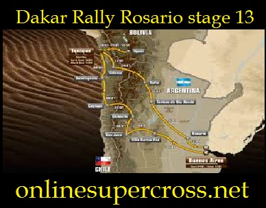 Watch Dakar Rally Rosario stage 13 Online