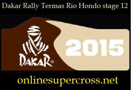 Dakar Rally Termas Rio Hondo stage 12