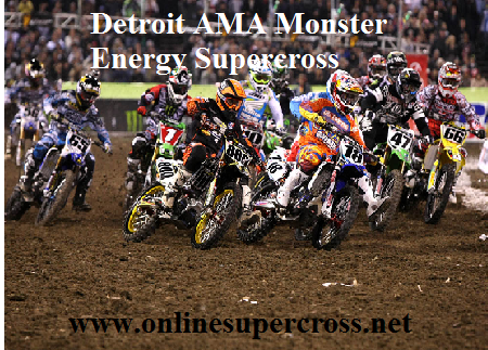 Monster Energy AMA Supercross Detroit Live On Laptop
