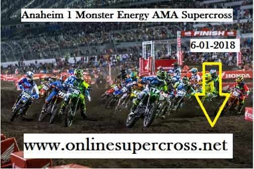 Supercross Angel Stadium Race