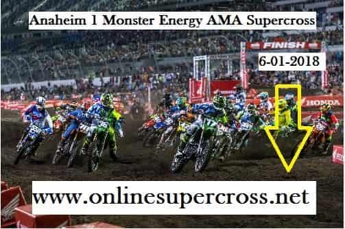 Supercross Angel Stadium Race
